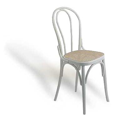Sedie In Legno Laccate Bianco.Thonet In Legno Laccato Bianco