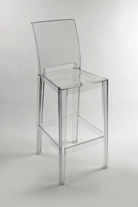Kartell sgabello One More Please Trasparente