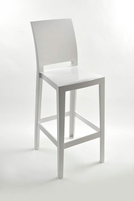 Kartell sgabello One Morsgabello More Please Bianco